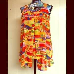 Beautiful Abstract Colorful blouse